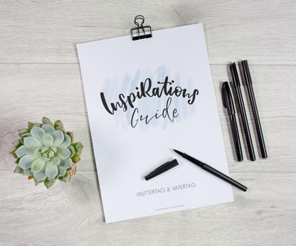 PDF-FILE - Inspirations-Guide zum Ausdrucken - MUTTERTAG & VATERTAG
