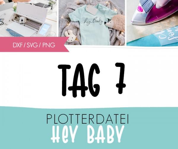"DXF/SVG-FILE - Plotterdatei - ""hey Baby"""