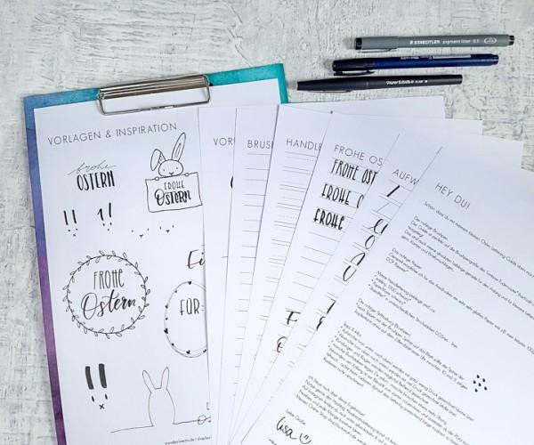 PDF-FILE - Oster-Inspiration - Mini Lettering-Guide zum Ausdrucken