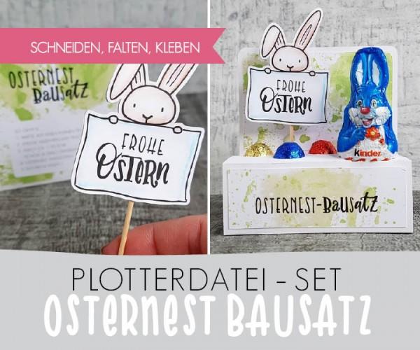 DXF/SVG-FILE - Plotterdatei - Osternest-Bausatz