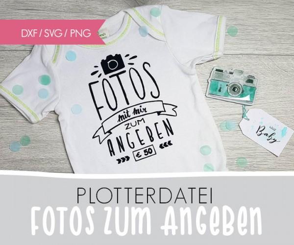 """DXF/SVG-FILE - Plotterdatei - """"Fotos zum Angeben..."""""""
