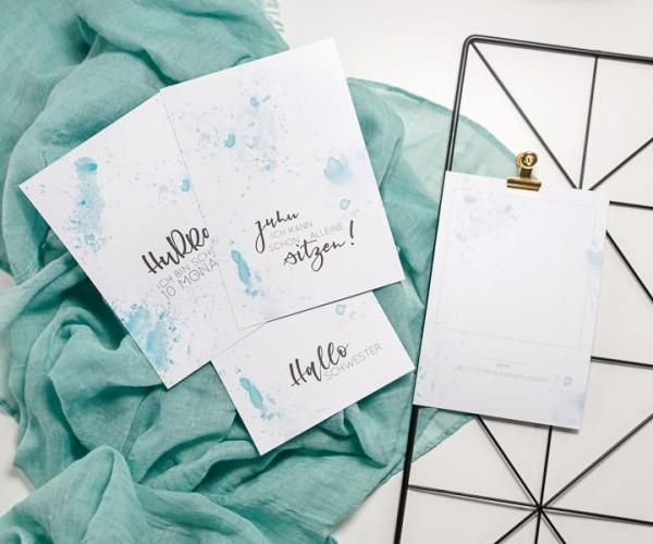 """Meilenstein-Karten """"Babys erstes Jahr"""" - SPLASH - PSD-Datei"""