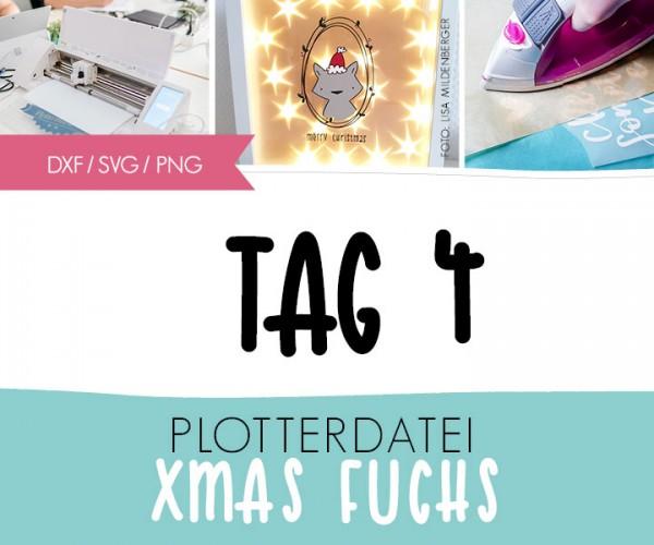 "DXF/SVG-FILE - Plotterdatei - ""XMAS Fuchs"""