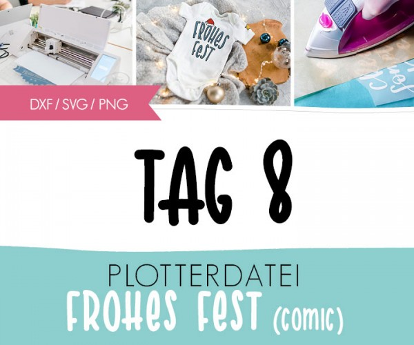"DXF/SVG-FILE - Plotterdatei - ""XMAS Frohes Fest"""