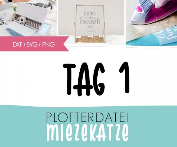 "DXF/SVG-FILE - Plotterdatei - ""Home is... Miezekatze"""